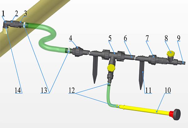 Схема установки дачного