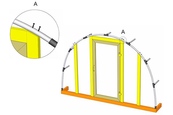 Вариант заделки торцов теплицы и установка двери