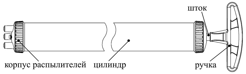Cхема опрыскивателя Шприц